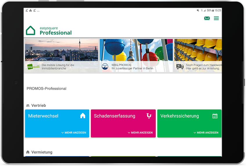 Die easy­square Professional App ab September 2020 als native App für Android in den Play-Stores verfügbar